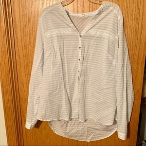 Maurices plus size 2 striped sheer button down